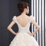 A luva do tampão da V-Garganta Appliques o vestido de casamento (SLD044)