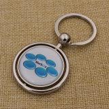 2016 ha personalizzato l'anello portachiavi reso personale cuoio del metallo con il marchio dell'azienda