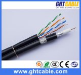Muti-Media RG6 Coaxial Cable con Network 4p UTP Cat5e Cable