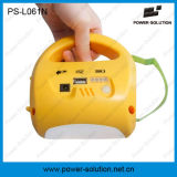 Linterna recargable solar con el cargador del teléfono móvil para acampar o el alumbrado de seguridad para el hogar