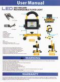 100W AC90-265V LEDの再充電可能な洪水ライト