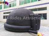 6m schwarzes aufblasbares Planetarium-Abdeckung-Zelt