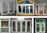 Сползая окно, окно PVC высокого качества сползая с конструкциями решеток