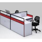De populaire Werkstations van het Call centre van de Foto's van het Ontwerp van de Lijst van het Bureau Dubbele (Sz-WS350)