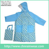 PVC imprimé Rain Wear pour Children avec Waterproof Handbag