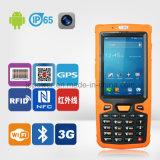 Leitor de código sem fio Handheld PDA da barra do levantamento de dados com WiFi 3G GPRS NFC RFID GPS Bluetooth