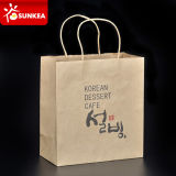 Restaurant su ordine Kraft Paper Bags con Handle