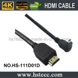 HDMI M/M onderaan de Kabel van 90 Graad met PE Zak