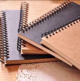 Пустая оптовая продажа спиральн тетради крышки бумаги Kraft