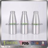 Bouteille en aluminium argentée ronde de boissons de boisson