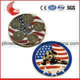 Moneta laterale all'ingrosso del ricordo del metallo 3D della Cina doppia