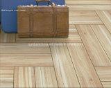 azulejo de suelo de madera del grano de la inyección de tinta 3D 150*600 Rd16025