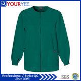 El negro del frente del broche de presión del calentamiento del Workwear de los hombres friega la chaqueta (YHS115)