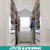 Caminhada personalizada no armário do Wardrobe da melamina (AIS-W004)