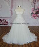 AG110ビーズのレースのAラインの花嫁の婚礼衣裳