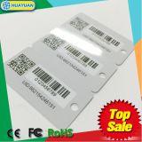 barcode (3개의 작은 꼬리표를 가진 1card)를 가진 인쇄된 소형 PVC Keytag 충절 카드