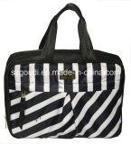 折る卸し売りポリエステル黒安い旅行化粧品袋