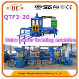 Piedra de pavimentación que se enclavija/color que pavimenta haciendo Machinebrick que hace la máquina (QTF3-20)