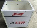 Refrigerador portátil do gelo da bebida comercial quente do tambor do gelo da forma do quadrado da venda com rodas