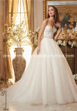 2016 Dentelle Organza chérie perles Superbe robe de mariée robe (Dream-100026)