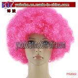 Synthetisches Afro-Perücke-Haar-Zusatzgerät kostümiert fördernde Förderung-Geschenke (PS2008)