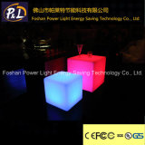 Éclairage LED Cube Colorful PE Tabouret Furniture