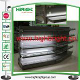 Estantes de la góndola de la visualización de la alta calidad con la lámpara del LED para los cosméticos