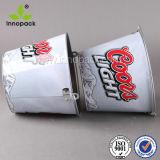 Position en métal de catégorie comestible du prix usine 5L avec le seau à glace de traitement avec l'ouvreur de bouteille