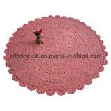 Décoration de maison de couverture de couverture de bébé de crochet de main ronde d'OEM d'usine
