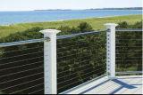 Алюминиевая проволочная изгородь нержавеющей стали Railings/палубы