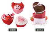 Moulage de gâteau de silicones de forme de coeur de cuvette de pain de cuvette de gâteau de silicones d'accessoires de cuisine pour la vente chaude de traitement au four