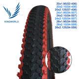 Schulter-Fahrrad-Gummireifen der roten Farben-26*2.125
