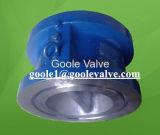La classe 150lb/300lb conjuguent type le clapet anti-retour (GAH76H) de plaque/de disque double plaque