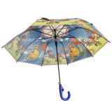 Whole Panels CartoonのまっすぐなAuto Open Transparents Poe Umbrella
