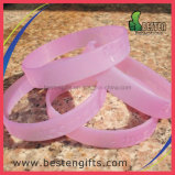 Wristband UV do bracelete do silicone do OEM do costume