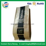 Sac de café avec la soupape et l'Étain-Tae et le papier d'emballage