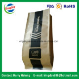 Kaffee-Beutel mit Ventil u. Zinn-Tae u. Braunem Packpapier