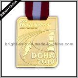 Медальон спортов с тесемкой медали для бежать (BYH-10857)