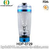 la bouteille d'eau en plastique portative de dispositif trembleur de protéine du vortex 600ml, BPA libèrent la bouteille électrique de dispositif trembleur de protéine
