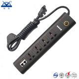 socket de la extensión de la tira de la potencia de la PC de la protección de la oleada de relámpago 2200W