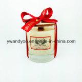純粋な大豆の香料入りのガラス瓶のハイエンドギフトの蝋燭