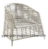 Stapelbarer Outdoor Garten Leisure Coffee Set mit Aluminum Frame&Rattan Woven Furniture
