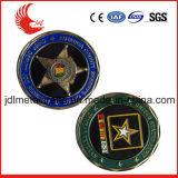 Oro antico personalizzato che incide la moneta di sfida dei militari