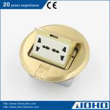Do PNF à terra redondo universal do soquete 220V 10A do soquete da circular assoalho/soquete elétricos da tabela