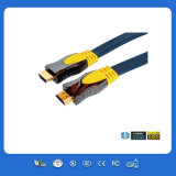 黒い1.4V Gold Plug 2.5m HDMI Cable