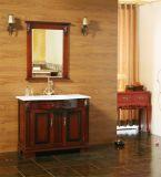 Suelo al por mayor que coloca vanidad del cuarto de baño de madera sólida