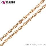 Monili della collana di colore dell'oro della Rosa dell'uomo di modo (42393)