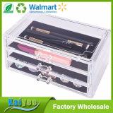 Boîte de présentation de bijou de l'espace de 3 grands tiroirs et organisateur de mémoire de renivellement