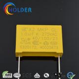 Type de boîte polyester métallisé et polypropylène condensateur X2 105k / 275V P = 22,5 E4 RoHS X2-MKP