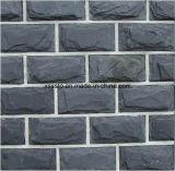 Le marbre normal couvre de tuiles la pierre de mur de placage d'ardoise pour bon marché